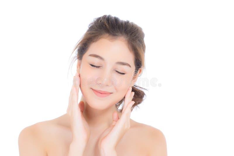 Muchacha hermosa con maquillaje, concepto cosmético del cuidado de la mujer y de piel/la muchacha asiática atractiva en la cara a fotografía de archivo libre de regalías