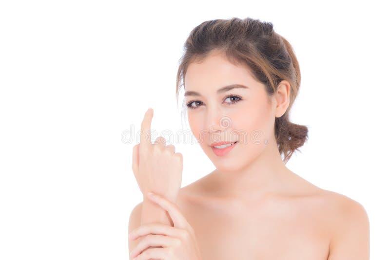 Muchacha hermosa con maquillaje, el retrato de la mujer y el concepto del cosmético del cuidado de piel foto de archivo libre de regalías