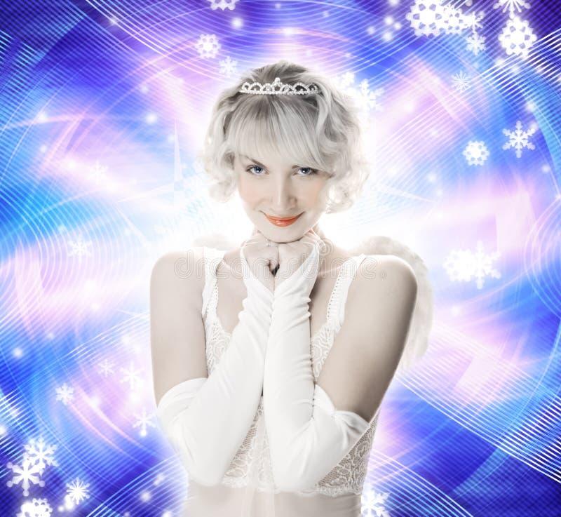 Muchacha hermosa del ángel imagen de archivo libre de regalías