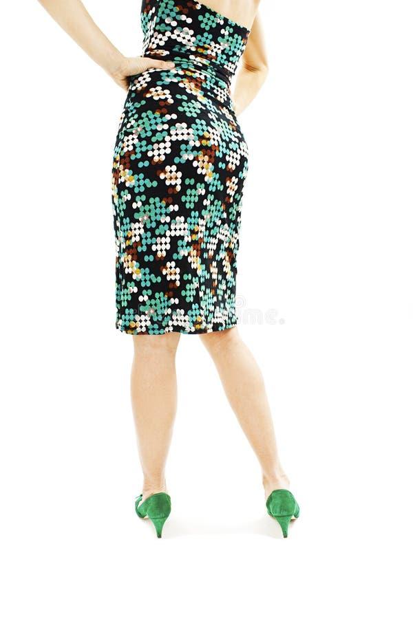 Muchacha hermosa en el vestido del verano de la parte posterior fotos de archivo libres de regalías