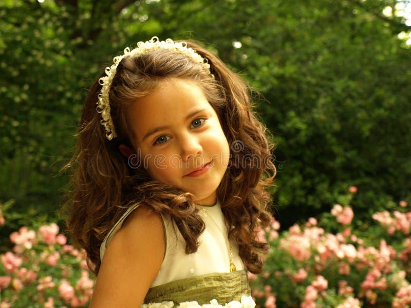 Muchacha hermosa en su primera comunión fotos de archivo libres de regalías