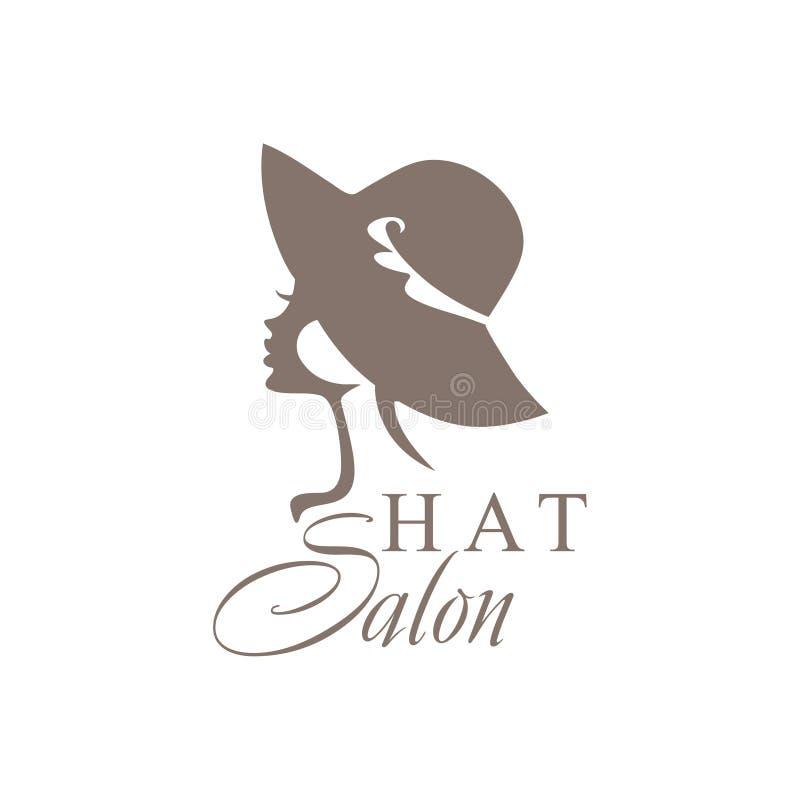 Muchacha hermosa en un sombrero fashionable libre illustration
