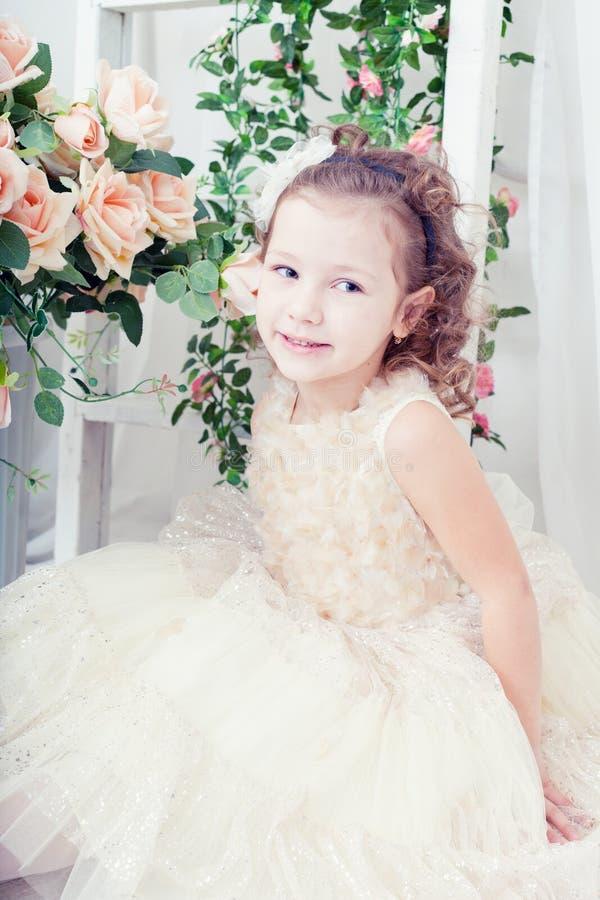 Muchacha hermosa en un vestido elegante imágenes de archivo libres de regalías