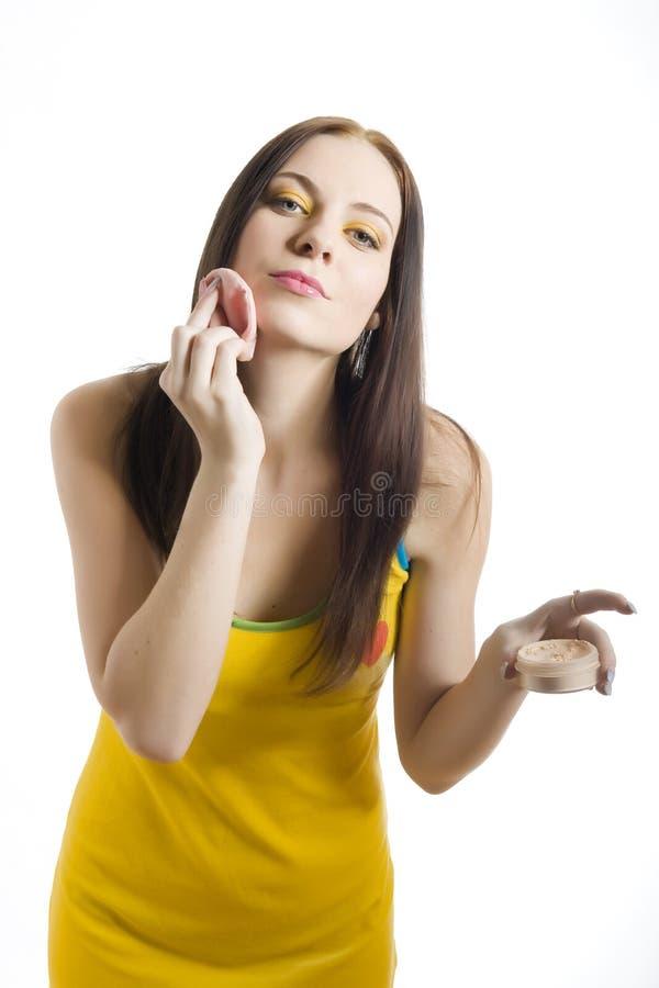 Muchacha hermosa joven del adolescente con maquillaje divertido imagen de archivo libre de regalías