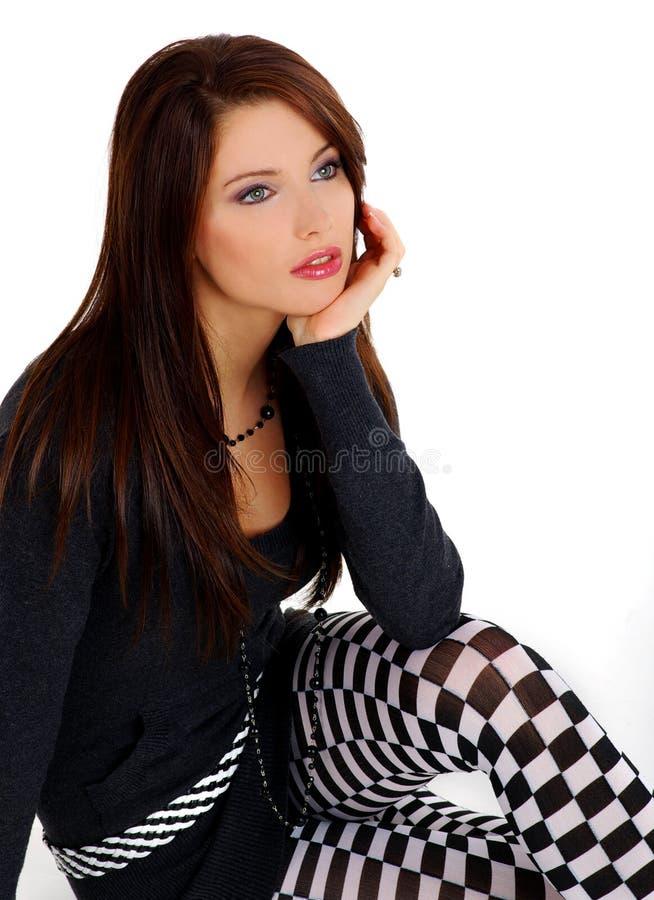 Muchacha hermosa y atractiva fotografía de archivo libre de regalías