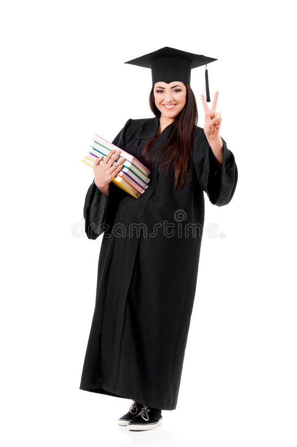 Muchacha integral de la graduación fotografía de archivo