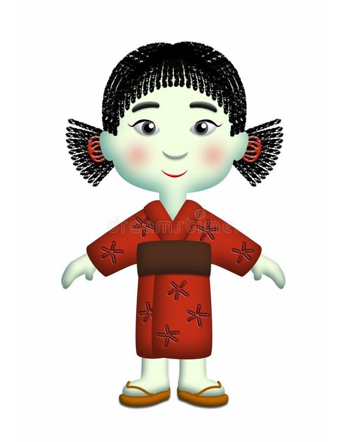 Muchacha japonesa ilustración del vector