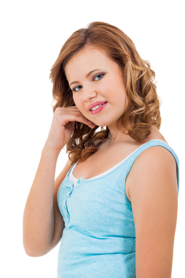 Download Muchacha Joven Del Adolescente Que Sonríe Teniendo Retrato De La Diversión Foto de archivo - Imagen de femenino, caucásico: 41901434