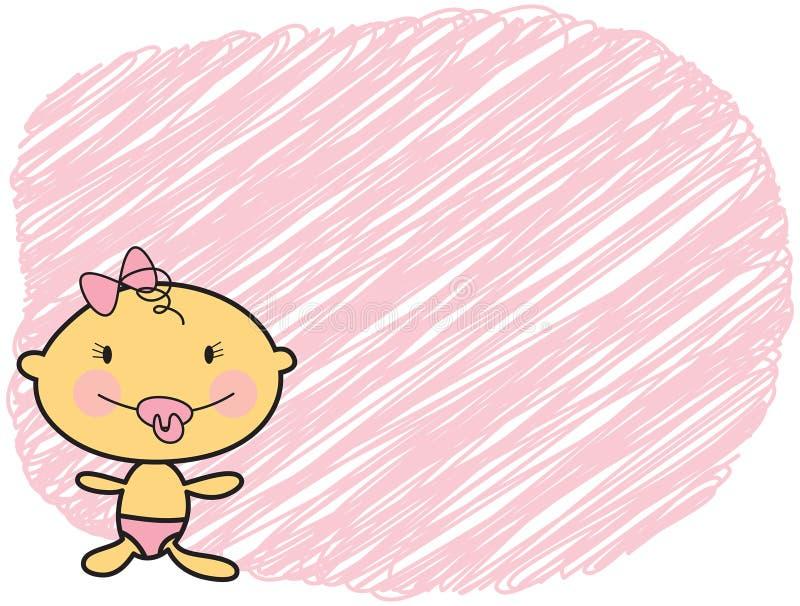 Muchacha justa de la piel del bebé de la historieta libre illustration