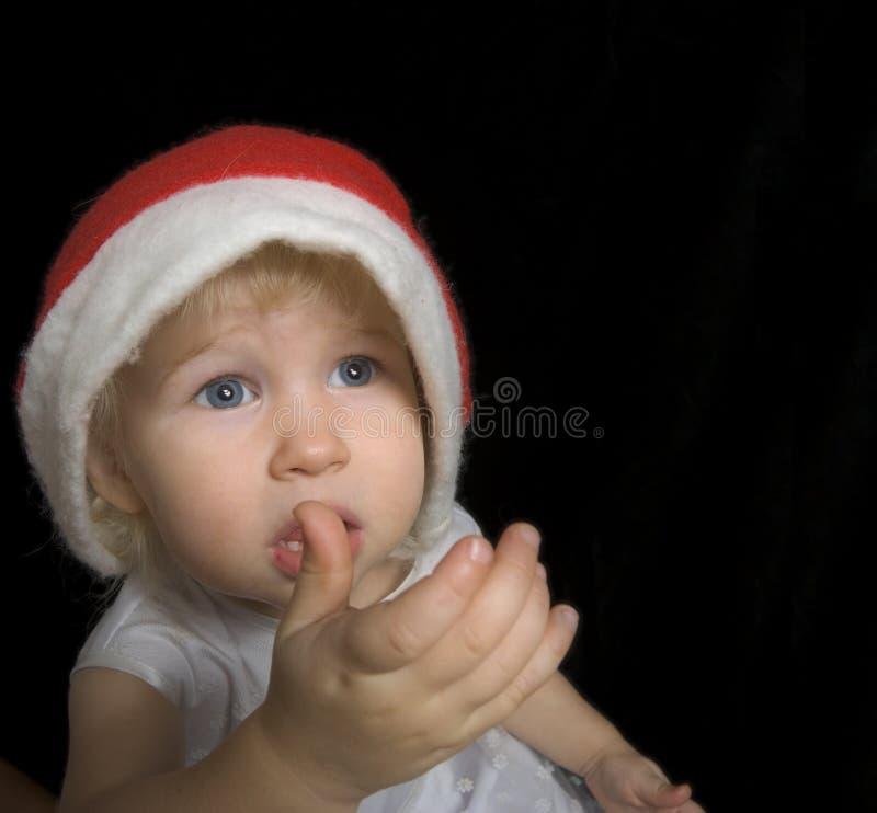 Muchacha lamentable de la Navidad fotos de archivo libres de regalías