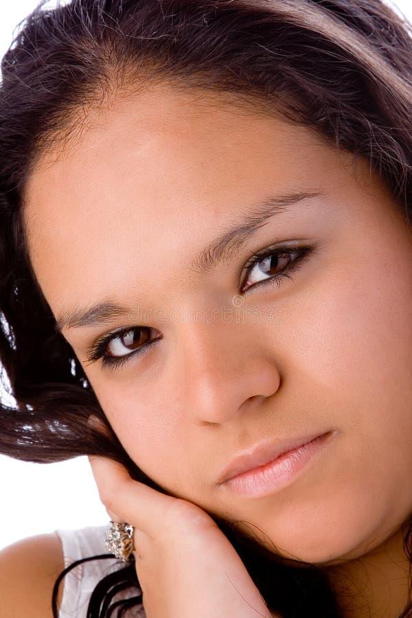 Muchacha latina rechoncha hermosa fotografía de archivo libre de regalías
