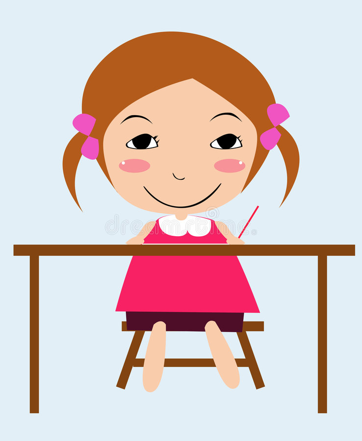 Muchacha linda libre illustration