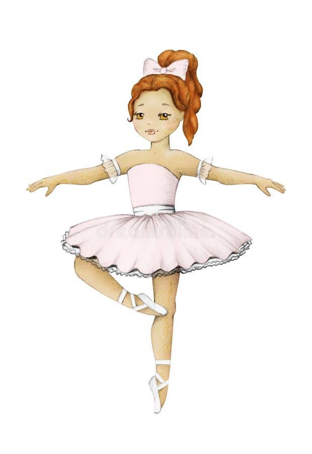 Muchacha linda de la bailarina ilustración del vector