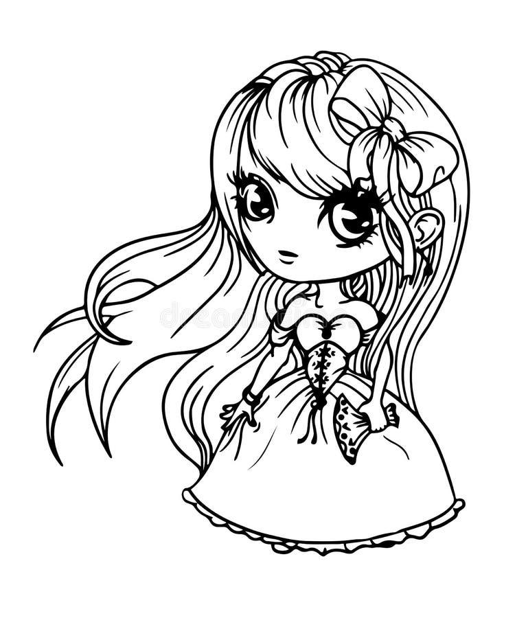 Muchacha linda de la muñeca imagen de archivo