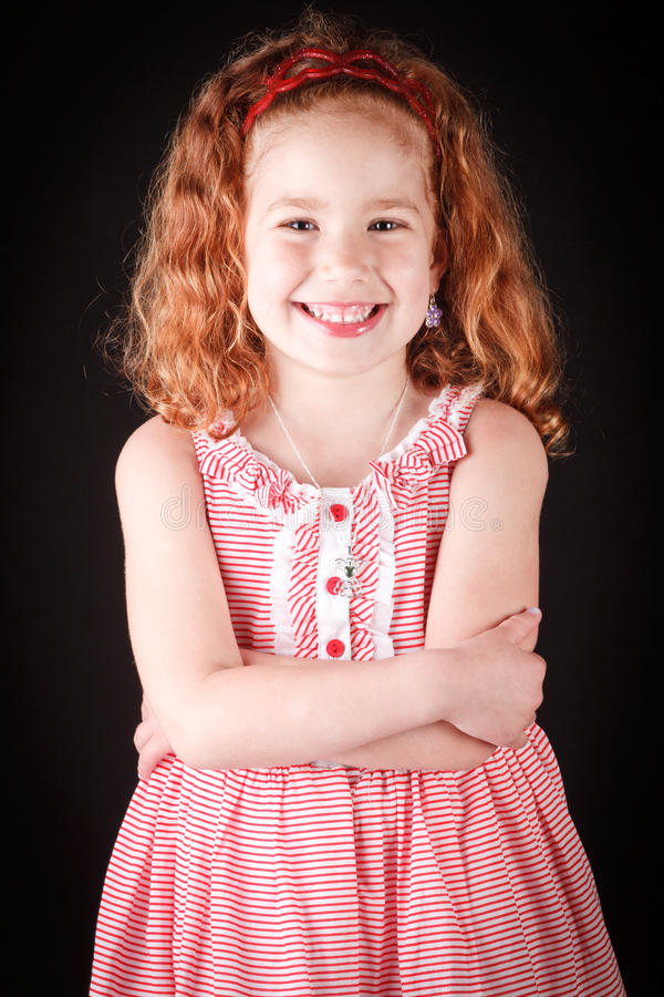 Muchacha linda del redhead foto de archivo