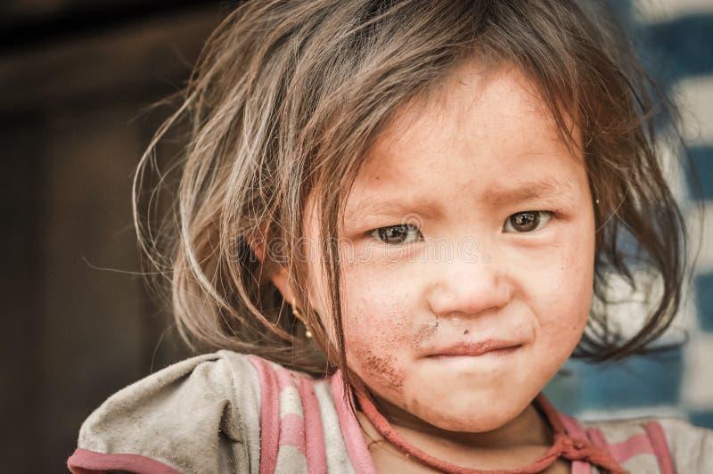 Muchacha linda en Nepal imagen de archivo libre de regalías