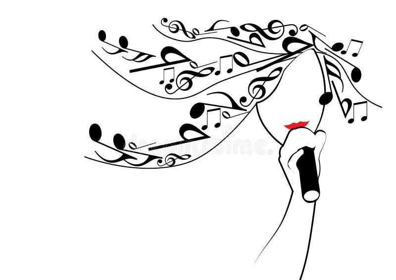 Muchacha musical stock de ilustración