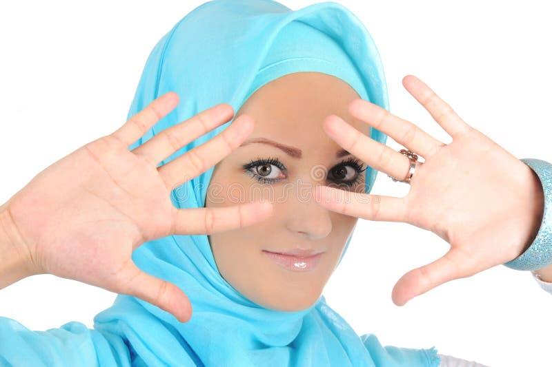 Muchacha musulmán hermosa de la manera foto de archivo