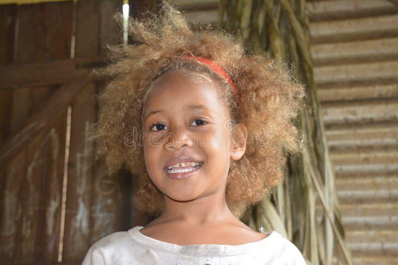 Muchacha nativa del Fijian imágenes de archivo libres de regalías