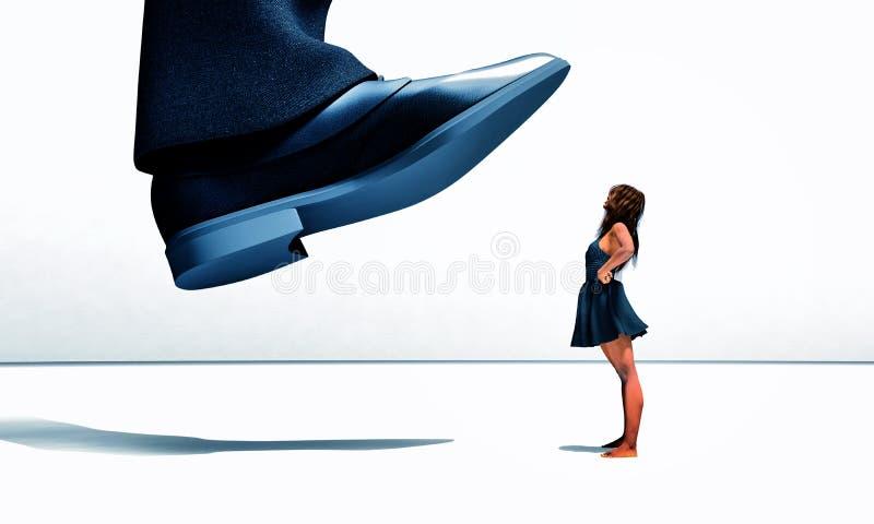 Muchacha negra desafiante libre illustration
