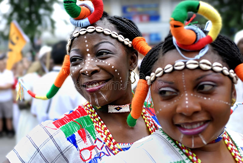 Muchacha nigeriana fotografía de archivo libre de regalías