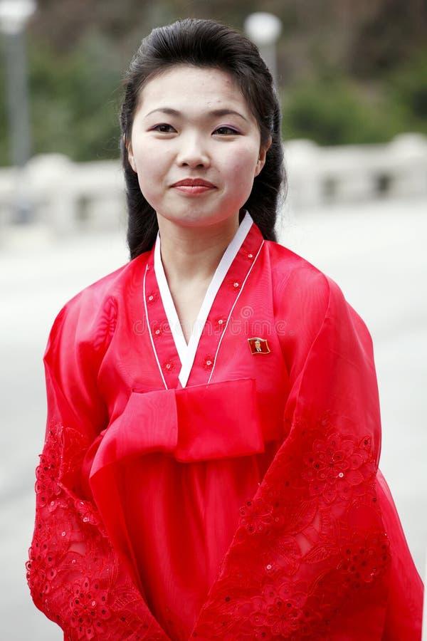 Muchacha norcoreana fotos de archivo