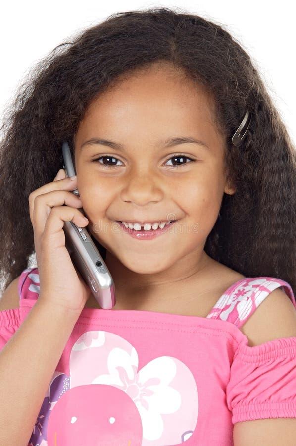 Muchacha que habla en el teléfono foto de archivo libre de regalías