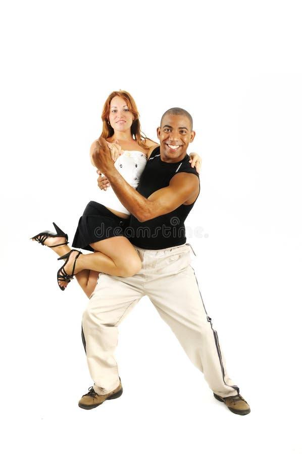 Muchacha que lleva del instructor de la danza del Latino fotos de archivo