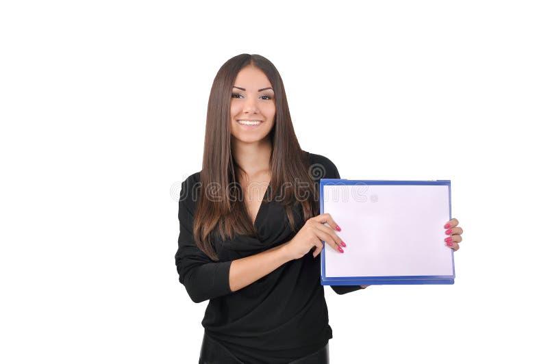 Muchacha que sostiene una carpeta fotos de archivo libres de regalías