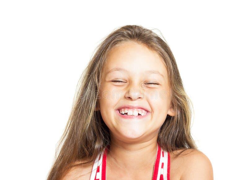 Muchacha que tiene risa de la diversión fotos de archivo