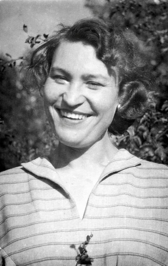 muchacha retra a partir de 1955 foto de archivo libre de regalías