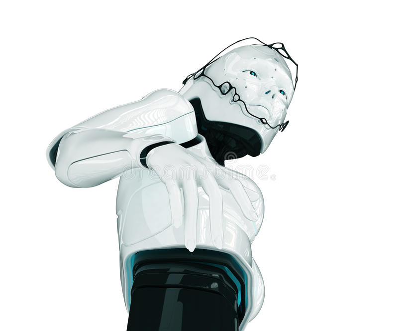 Muchacha robótica de moda libre illustration