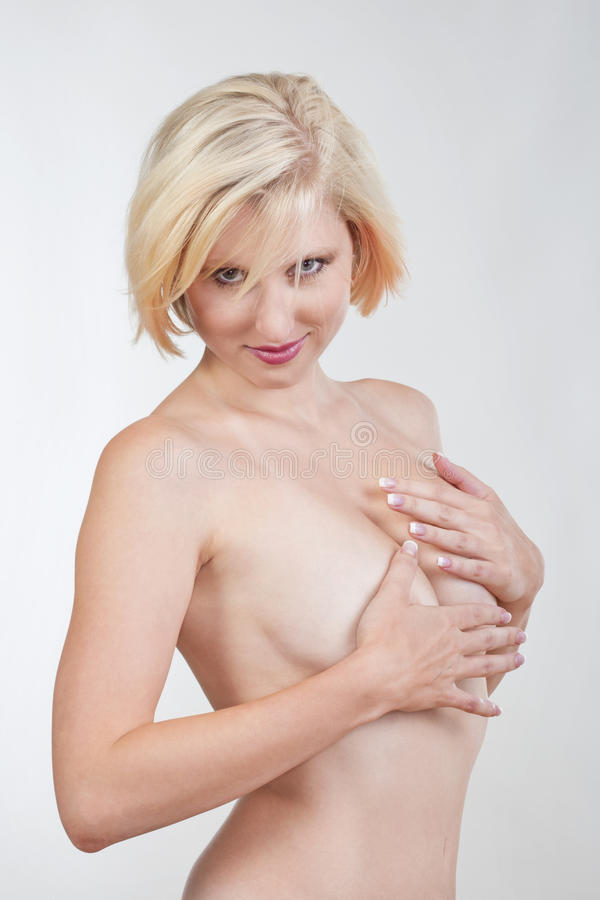 Muchacha rubia atractiva fotografía de archivo