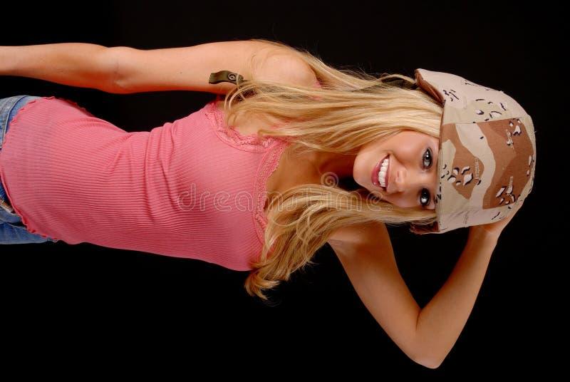 Muchacha rubia encantadora fotos de archivo