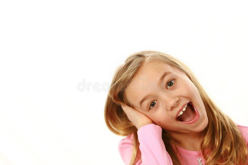 Muchacha rubia sonriente foto de archivo