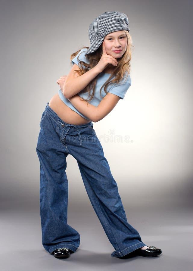 Muchacha sonriente de baile fotos de archivo