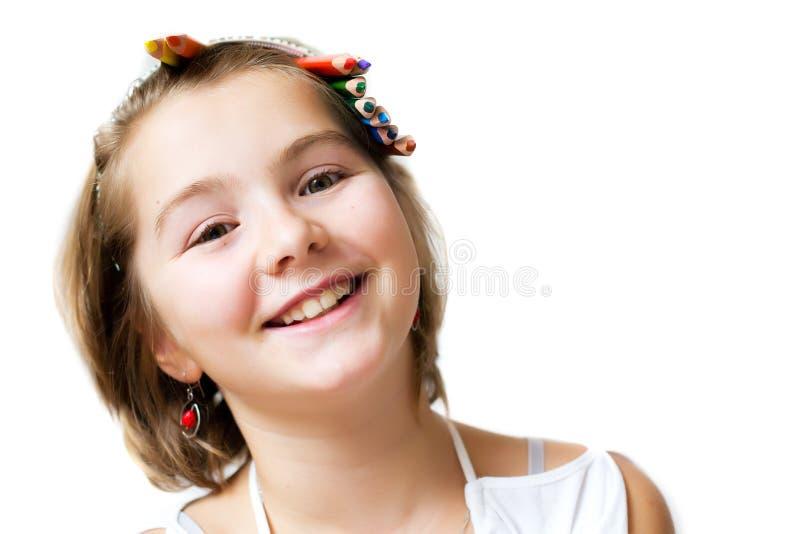 Muchacha sonriente feliz fotos de archivo libres de regalías