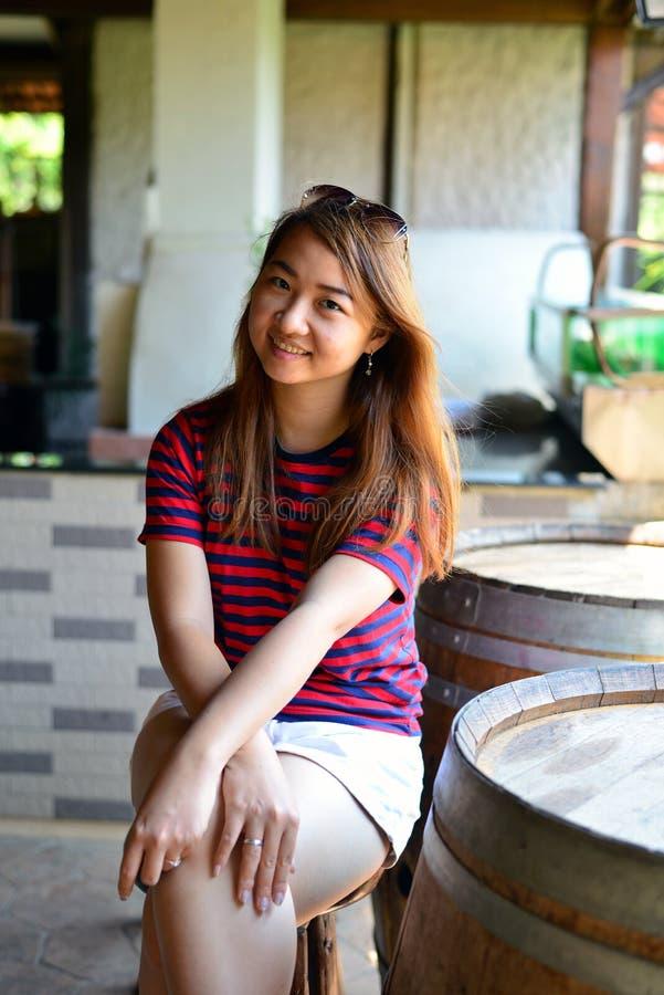 Muchacha tailandesa del retrato foto de archivo libre de regalías