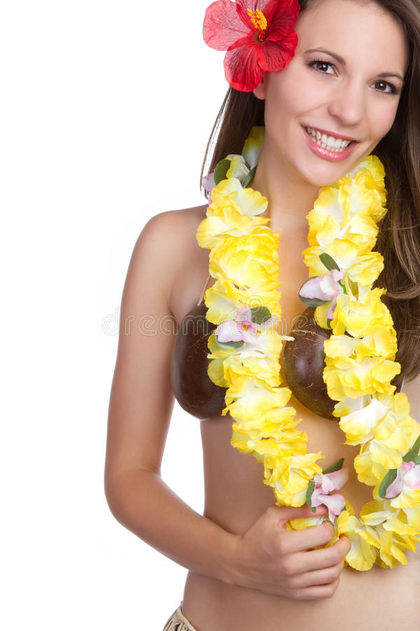Muchacha tropical hawaiana imagenes de archivo
