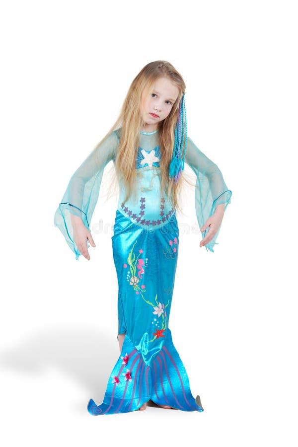 Muchacha vestida como sirena imagen de archivo