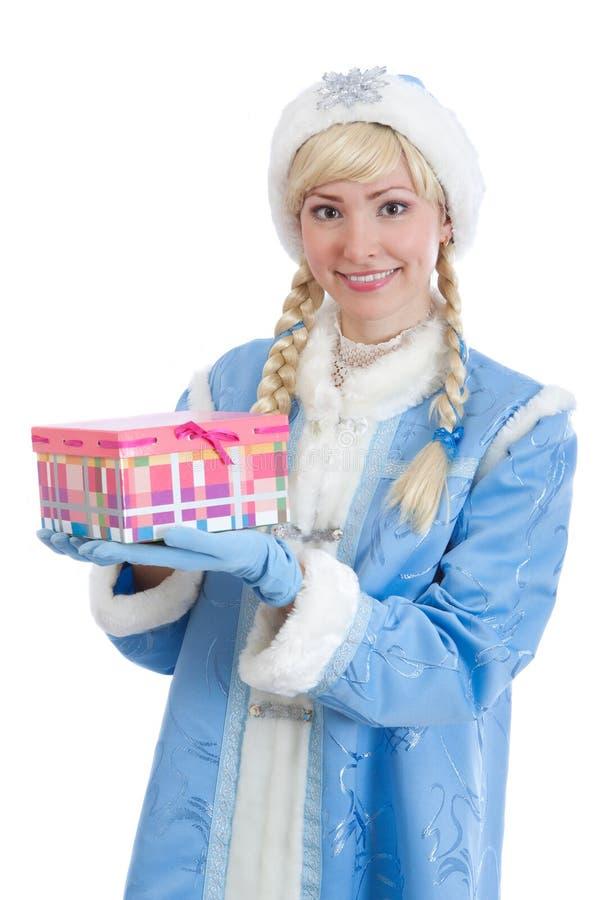 Muchacha vestida en el traje ruso de la Navidad imagen de archivo libre de regalías