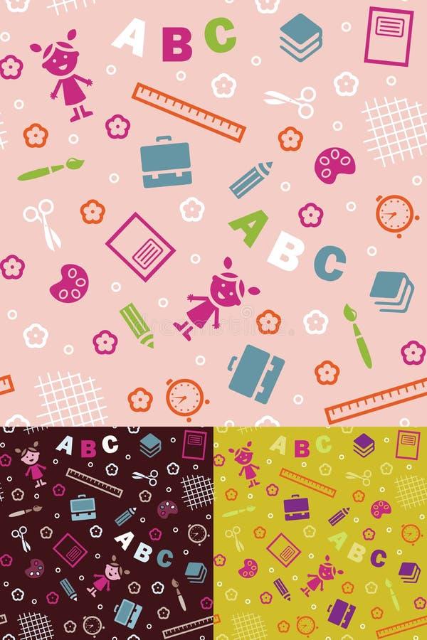 Muchacha y ABC ilustración del vector