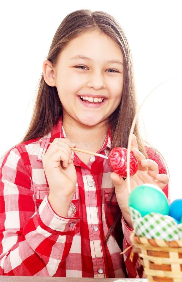 Muchacha y huevo de Pascua imagen de archivo libre de regalías