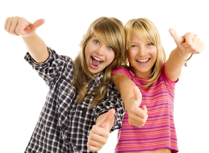 Muchachas adolescentes felices imagen de archivo