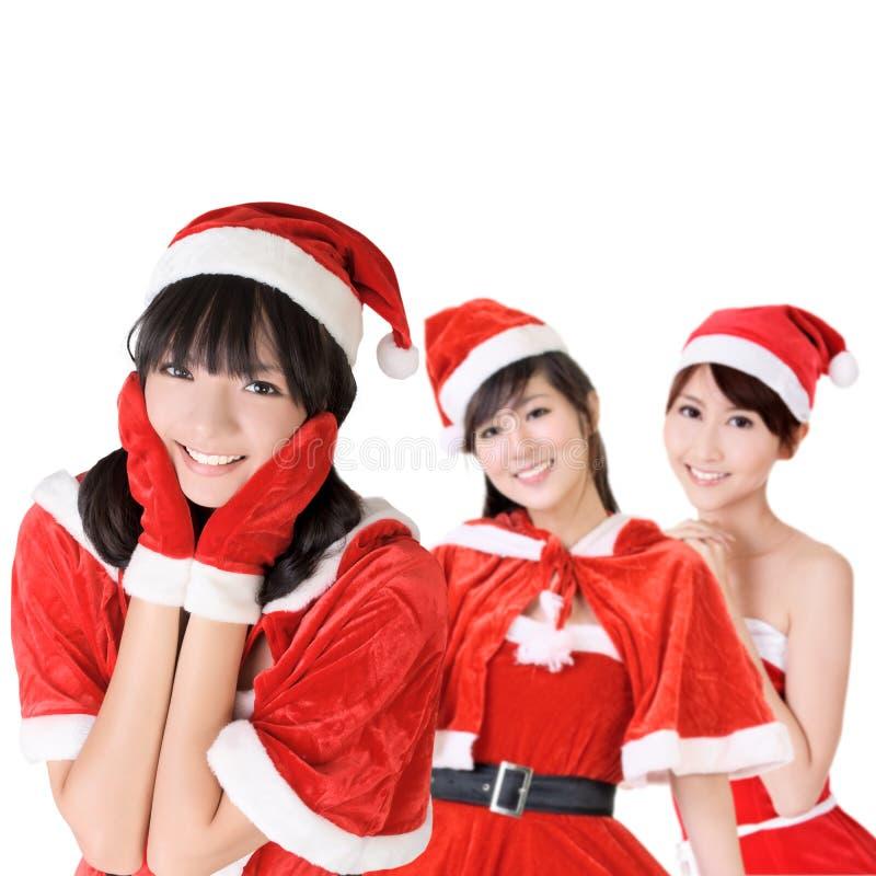 Muchachas atractivas de la Navidad imagen de archivo libre de regalías