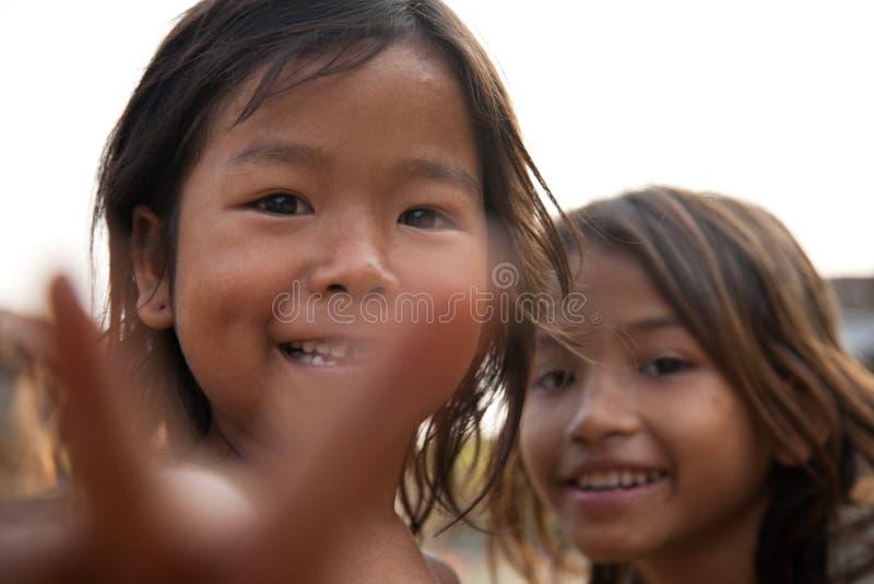 Muchachas Camboyanas Foto de archivo editorial
