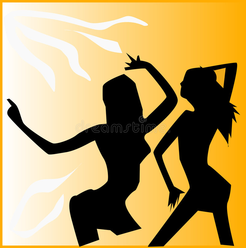 Muchachas de baile stock de ilustración