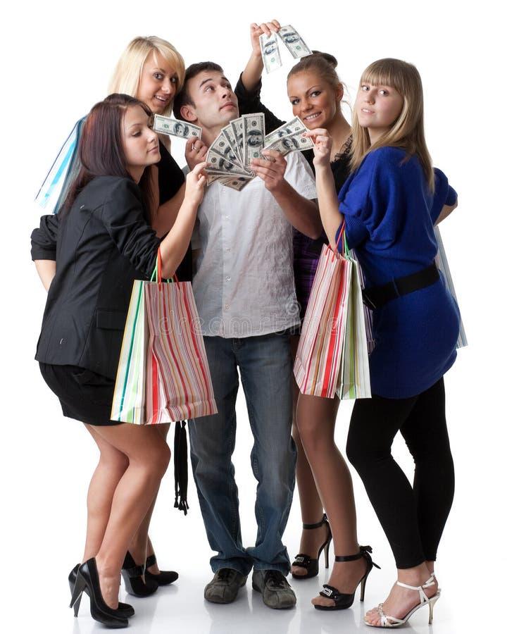 Muchachas de compras imagen de archivo libre de regalías