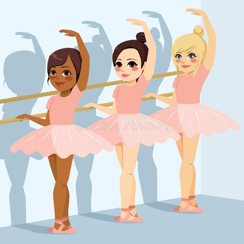 Muchachas de la clase del ballet ilustración del vector