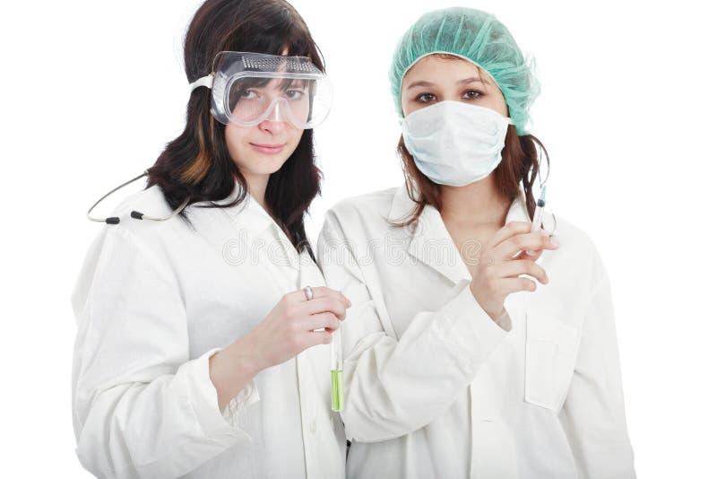 Muchachas de la enfermera fotos de archivo